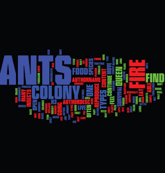 Fire ants text background word cloud concept vector