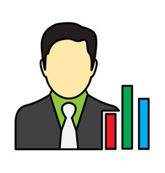 Flat color manager icon vector