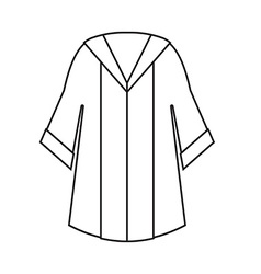Graduation gown icon vector