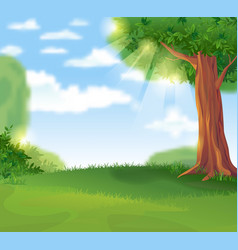 green landscape in the summer sunny day vector image