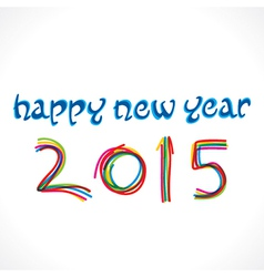 happy new year 2015 greeting design vector image