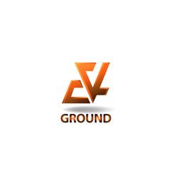Logo element ground vector