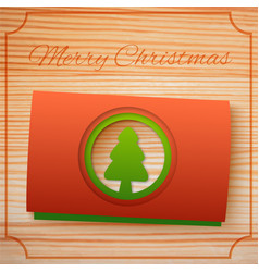 merry christmas greeting template vector image vector image