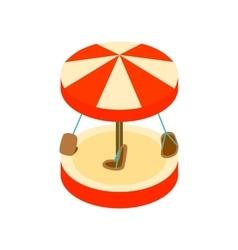 Merry-go-round isometric 3d icon vector