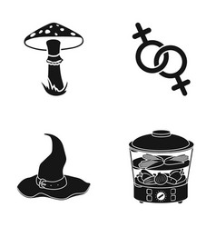 Poisonous fungus gender and other web icon in vector