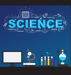 Science laboratory with high technology vector