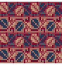 Seamless geometric pattern in the boho style vector image