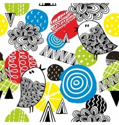 Seamless pattern with hand drawn bright design vector image vector image