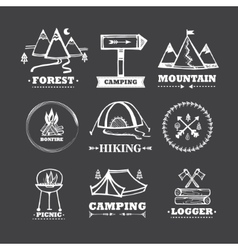 Set of logos camping vector image