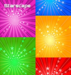 stars cape vector image vector image