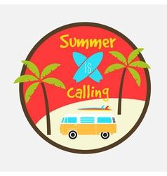 Summer calling vector