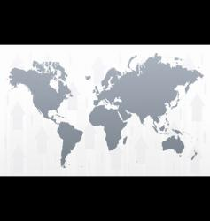 world map arrowed background vector image vector image