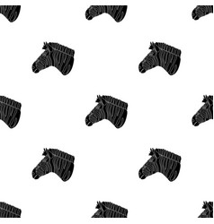 Zebra icon in black style isolated on white vector