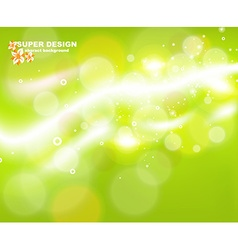 Green abstract background with sunlight rays vector