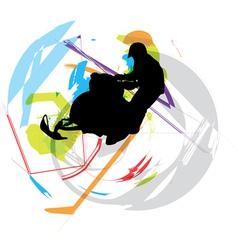 Snow ski vector image