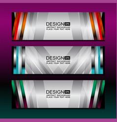 Banner backgrounds design vector