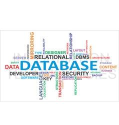 Word cloud database vector