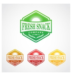Fresh snack badge symbol vector