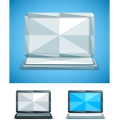 Low poly laptop vector