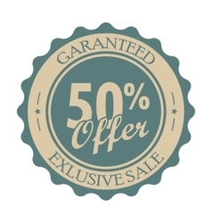 50 percent off vintage tag vector image