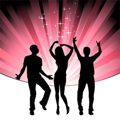 disco dance young people vector image