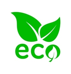 Leaves eco icon simple style vector image