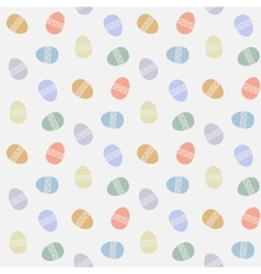 Seamless pattern with abstract easter eggs vector