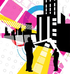 Urban scene design vector