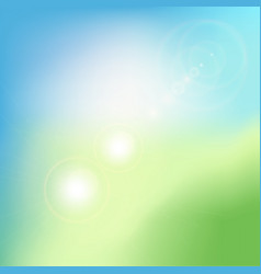 Abstract green blurred gradient background with vector