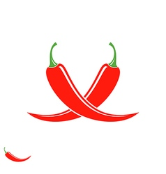 Chili pepper Logo vector image vector image