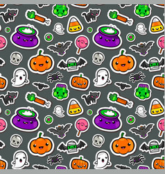 cute seamless halloween background vector image vector image