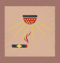 flat shading style icon cigar smoke alarm vector image
