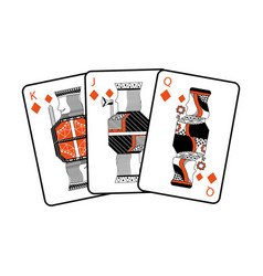 french playing cards related icon icon image vector image vector image