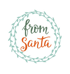 from santa merry christmas greeting card vector image vector image