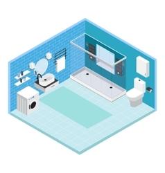 Interior bathroom composition vector