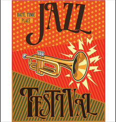 jazz retro vintage background vector image