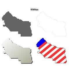 Kittitas map icon set vector