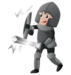 knight with shield and sword vector image