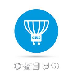 Light bulb icon lamp gu10 socket symbol vector