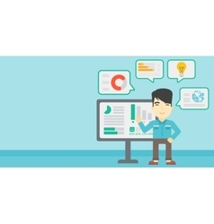 Man making business presentation vector image