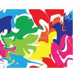 Marble rainbow texture seamless pattern vector