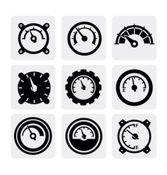 meter icons vector image