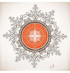 Nautical design baroque ornaments vector