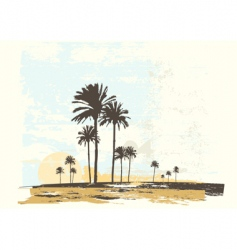 ocean coast vector image