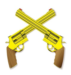 pistol revolvers vector image