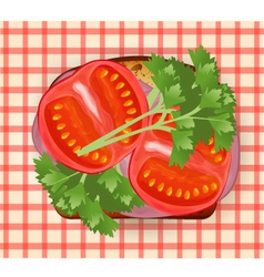 sandwich with bacon vector image vector image