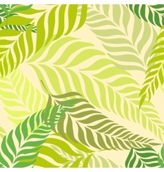 Seamless tropical pattern with fern leaves palm vector