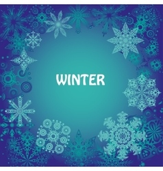 snowflakes and joyful mood for your design vector image vector image