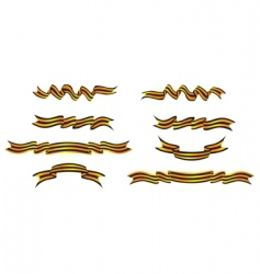 stripe ribbon vector image vector image