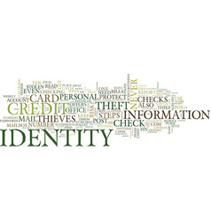 Ten steps to reduce your risk of identity theft vector